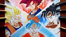Dibujo Fases De Goku Ultra Instinto Ssj3 Dios Blue