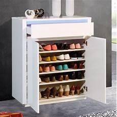 meuble à chaussure design meuble 224 chaussures design blanc laqu 233 avec led rgb