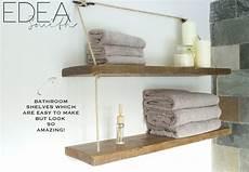 Badezimmer Regal Holz - diy reclaimed wood bathroom shelves edea smith