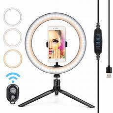 Inch Ring Light With Tripod Stand by Juslike 10 Inch Ring Light With Tripod Stand Bluetooth