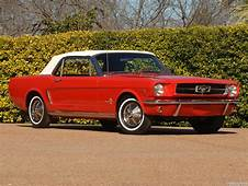 1964 1/2 Mustang Convertible  Candy Apple Red With White