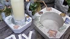 beton deko diy diy beton deko schale windlicht mit selbst gemachtem beton kinderleicht machen how to