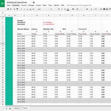 arbeitszeit ganz einfach mit excel vorlagen berechnen