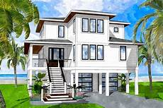coastal house plans elevated elevated coastal house plan with 4 bedrooms 15238nc