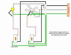 wiring a ceiling fan and multiple can lights separate switches doityourself com community