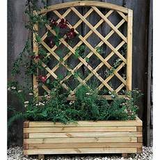 Decorative Trellis forest garden toulouse planter curved integrated trellis
