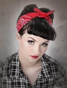 bandana cheveux femme 1001 id 233 es coiffure rockabilly coiffure 233 e 50 et