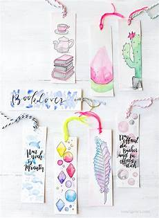 diy aquarell lesezeichen with images watercolor
