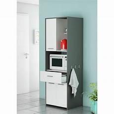 almond meuble micro onde 60 cm blanc et gris graphite