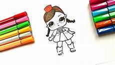 draw surprise doll lol diy lol draw tutorial toy coloring girl рисуем пошагово куклу лол lol
