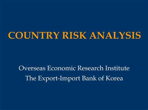 Country Risk Analysis Definition