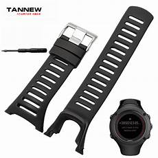 Black Silicone Band Suunto Ambit by Accessories High Quality Silicone Black Rubber