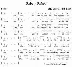 Not Angka Lagu Bubuy Bulan Koleksi Not Angka