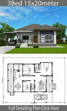 three bedroomed bungalow house plans home design plan 15x20m with 3 bedrooms home planssearch