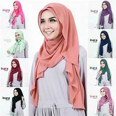 10 Tutorial Pashmina Simple Terbaru 2017