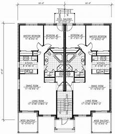 multiplex house plans six plex multi family home plan 90146pd 1st floor