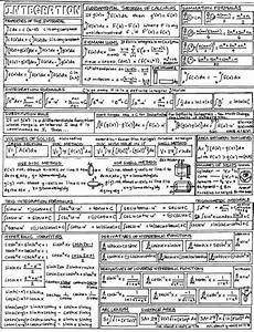 integration cheat sheet ap calculus ab bc pinterest math 233 matiques 201 ducation and maths de base
