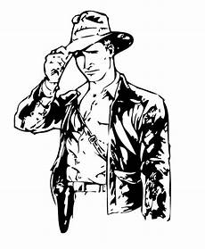 indiana jones with his bullwhip coloring pages hellokids