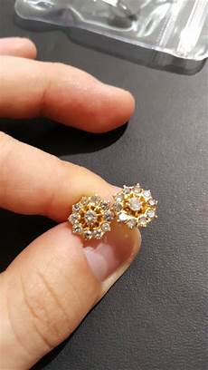 jual anting giwang emas kuning berlian intan banjar asli di lapak rich jwl ericsson dhanuarta