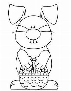 easter coloring pages ebook simple bunny outline