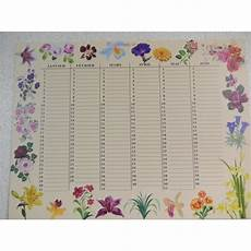 calendrier perpetuel anniversaire personnalisé calendriers perp 233 tuels 224 motifs floraux pour noter tous les anniversaires