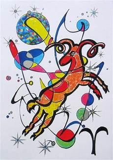 Sternzeichen Nach Widder - quot sternzeichen widder quot malerei als poster und kunstdruck