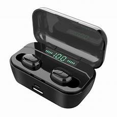 Sansui Wireless Earbuds Bluetooth Earphone Display by Mini Wireless Bluetooth Earphone Bluetooth 5 0 Led Digital
