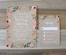floral diy wedding invitation rsvp card