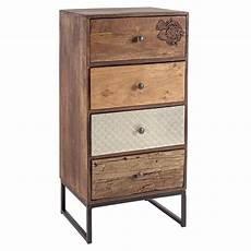 Abuja 4c Kommode Vintage Aus Holz Mit Eisenbeine Mit
