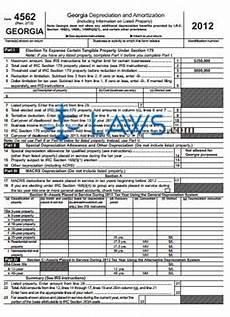 form 4562 depreciation and amortization georgia georgia forms laws com