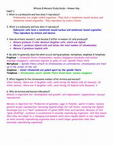 mitosis meiosis study guide answer key part 1 1 what