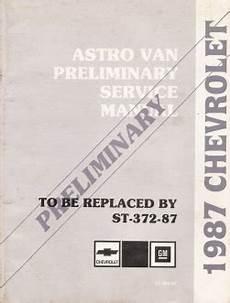free service manuals online 1998 chevrolet astro on board diagnostic system 1987 chevrolet astro van preliminary factory service manual