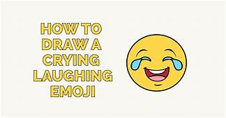How To Draw A Crying Laughing Emoji  Really Easy Drawing