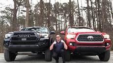Tacoma Trd Pro Vs Trd Road truck battle 2019 tacoma trd pro vs trd road you