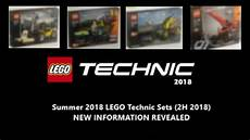 2h 2018 Sets Finally Revealed Summer 2018 Lego Technic