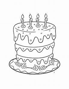 Malvorlagen Cake Malvorlagen Fur Kinder Ausmalbilder Geburtstagskuchen