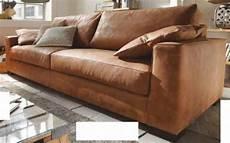 sofa 4 sitz ledersofa walnuss leder anilinleder