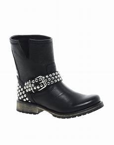 steve madden fraankie stud biker boots in black lyst