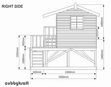 elevated cubby house plans country cottage cubby house australian made backyard
