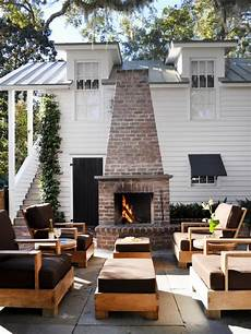 diy outdoor fireplace ideas hgtv