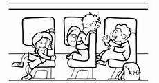 Schule Und Familie De Malvorlagen Kostenlose Malvorlage Schule Kinder Im Schulbus Zum Ausmalen