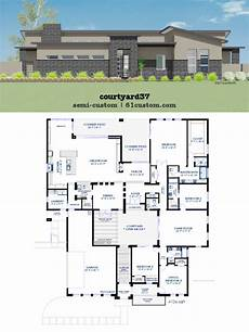 ultra modern contemporary house plans modern courtyard house plan 61custom contemporary