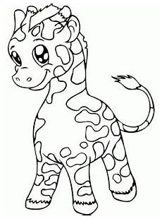 giraffes free printable coloring pages for