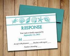 wedding rsvp template seashell response card quot coastal dreams quot ocean printable wedding