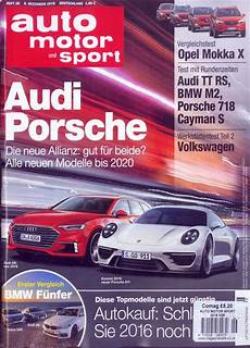 auto motor und sport auto motor sport magazine subscription buy at newsstand