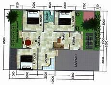 30 Denah Rumah Minimalis 3 Kamar Tidur Desain 1 Lantai