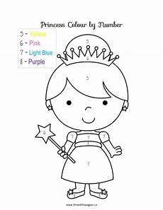 free coloring pages of princess color by number numbers preschool princess coloring