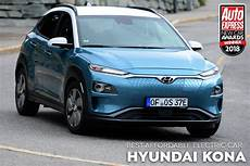 affordable electric car of the year 2018 hyundai kona