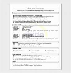 resume template for freshers sles in word pdf