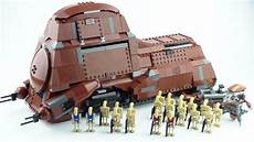lego star wars trade federation mtt 7662 review youtube